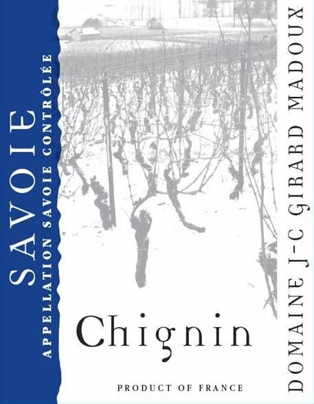 Domaine Jean-Charles Girard-Madoux Chignin 2015 Front Label