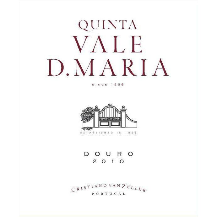 Quinta Vale D. Maria Douro Red 2010 Front Label