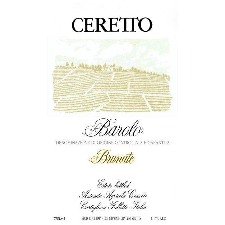 Ceretto Brunate Barolo 1996 Front Label