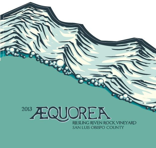 Aaron Wines Aequorea Riven Rock Vineyard Riesling 2013 Front Label
