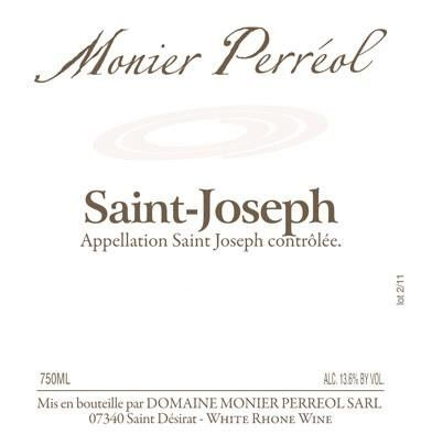 Domaine Monier Perreol Saint-Joseph Blanc 2014 Front Label