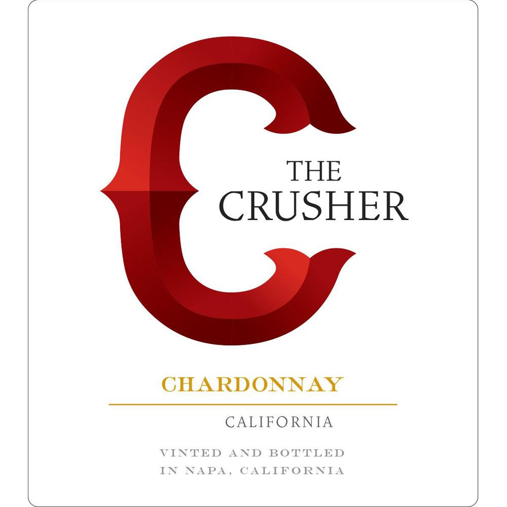 The Crusher Chardonnay 2016 Front Label