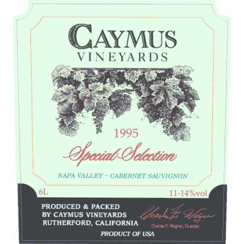 Caymus Special Selection (1.5 Liter Magnum) 1995 Front Label