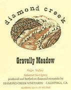 Diamond Creek Gravelly Meadow Cabernet Sauvignon 1981 Front Label