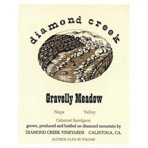 Diamond Creek Gravelly Meadow Cabernet Sauvignon 1996 Front Label