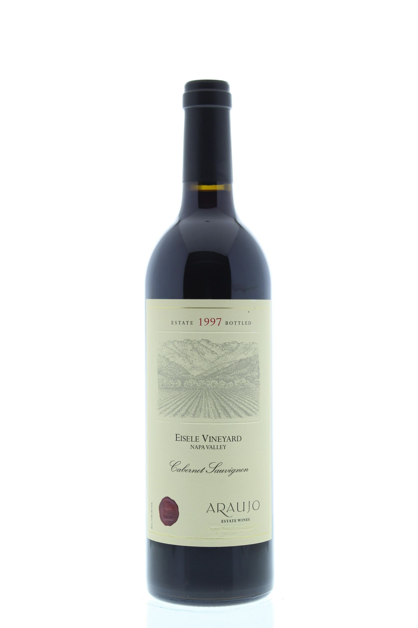 Araujo Eisele Vineyard Cabernet Sauvignon 1997 Front Bottle Shot