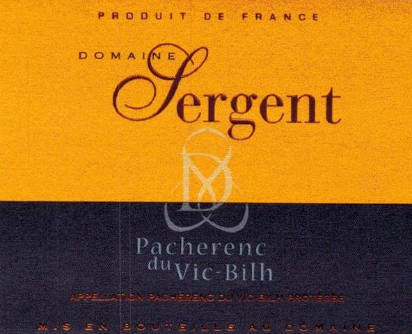 Domaine Sergent Pacherenc du Vic-Bilh Tradition 2015 Front Label