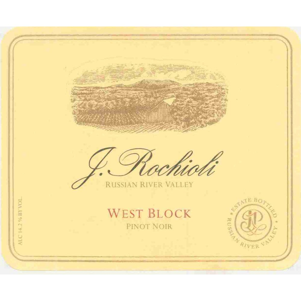 Rochioli West Block Pinot Noir 1997 Front Label