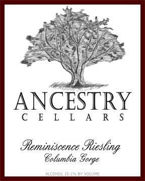 Ancestry Cellars Reminiscence Riesling 2014 Front Label