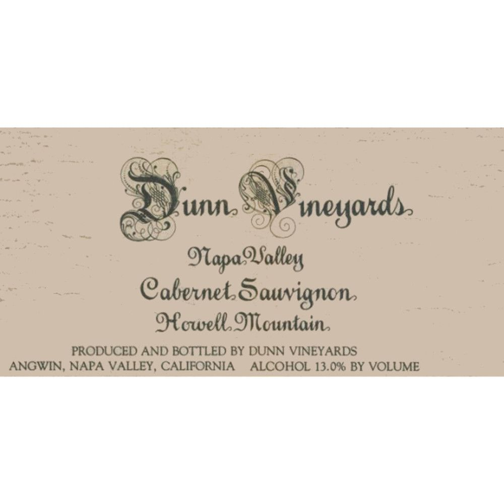 Dunn Howell Mountain Cabernet Sauvignon 1995 Front Label