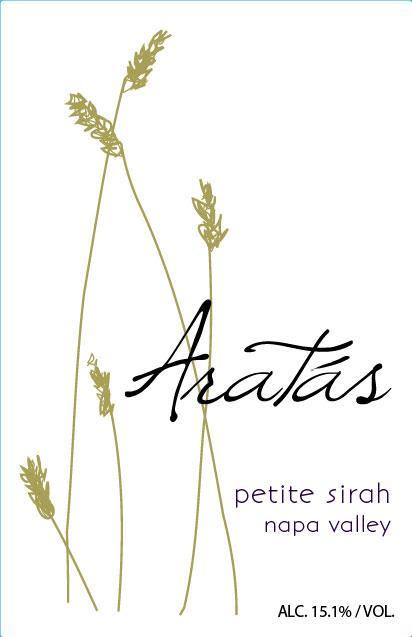 Aratas Wine Shake Ridge Ranch Petite Sirah 2012 Front Label