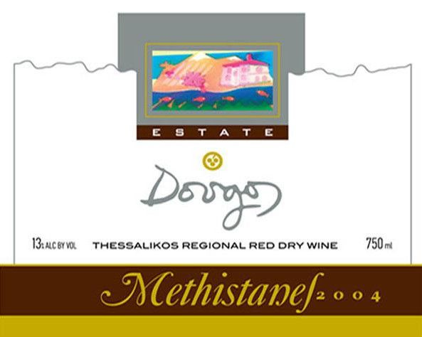 Dougos Winery Methistanes Red 2004 Front Label