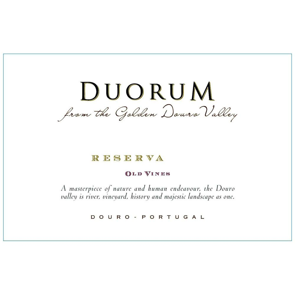 Duorum Old Vines Reserva  2012 Front Label