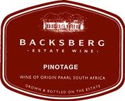 Backsberg Pinotage 1999 Front Label