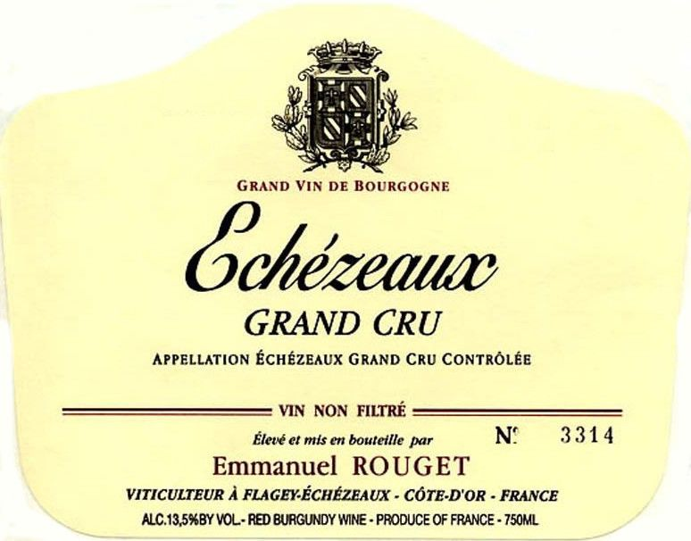 Emmanuel Rouget Echezeaux Grand Cru 2012 Front Label