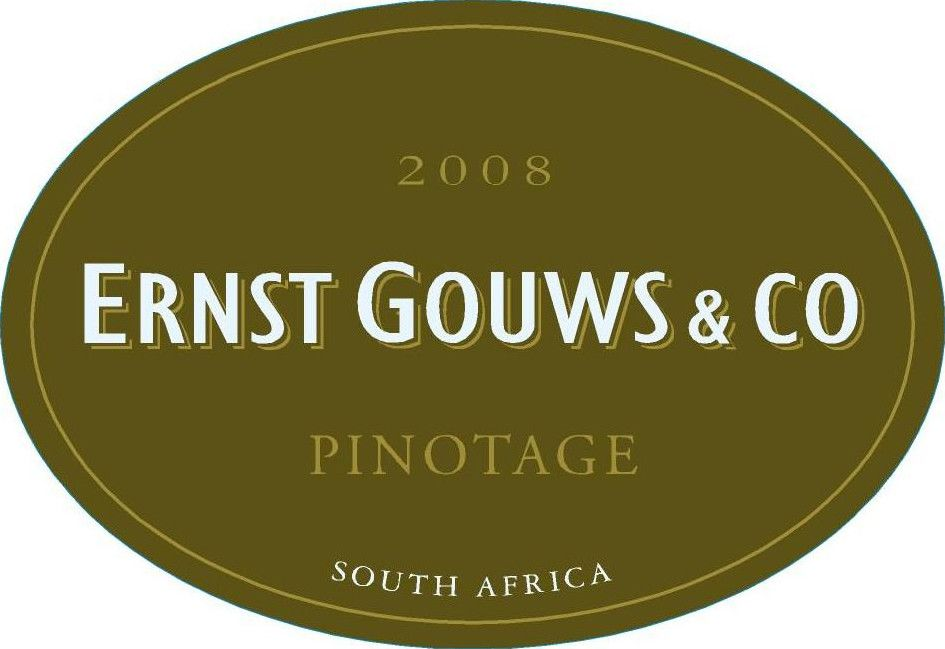 Ernst Gouws & Co Pinotage 2008 Front Label