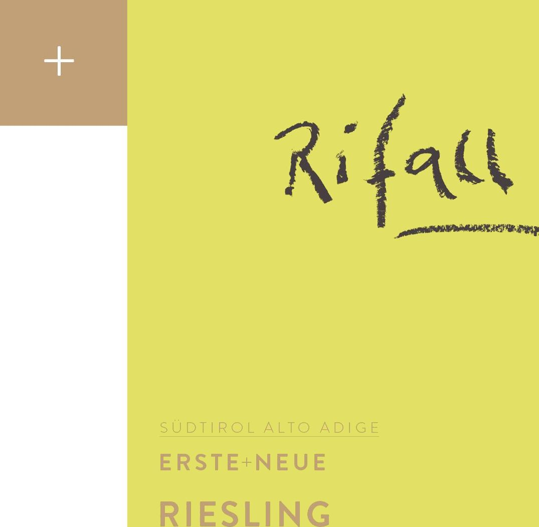 Erste + Neue Alto Adige Rifall Riesling 2015 Front Label