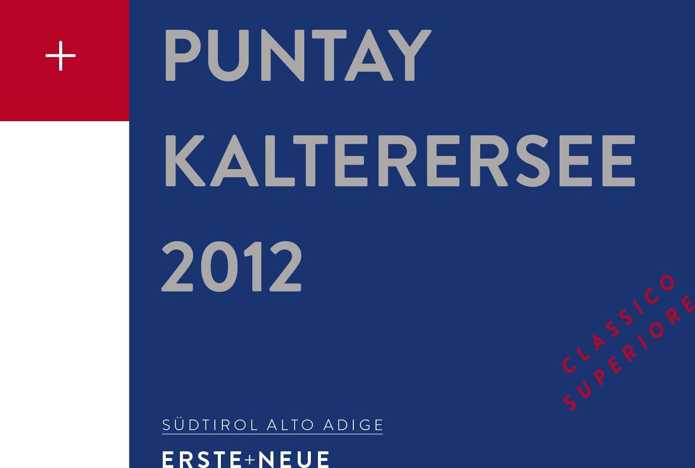 Erste + Neue Kalterersee Puntay Classico Superiore 2012 Front Label