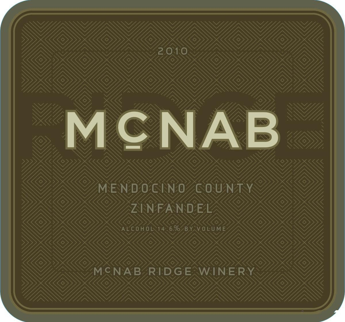 McNab Ridge Winery Zinfandel 2010 Front Label