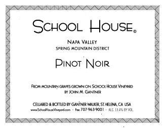 School House Pinot Noir 2011  Front Label