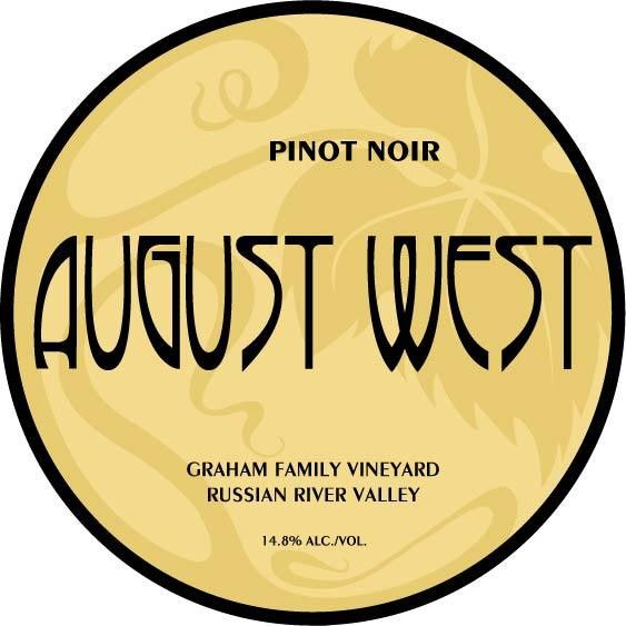 August West Graham Family Vineyard Pinot Noir 2008 Front Label