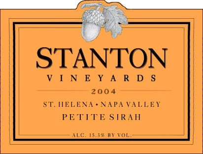 Stanton Vineyards St. Helena Petite Sirah 2004  Front Label