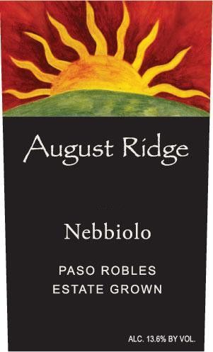 August Ridge Vineyards Nebbiolo 2010 Front Label