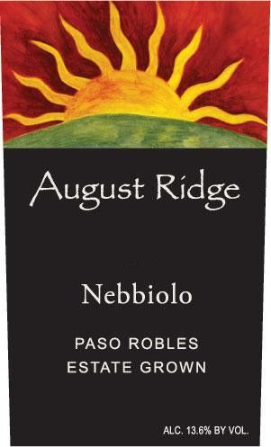 August Ridge Vineyards Nebbiolo 2012 Front Label