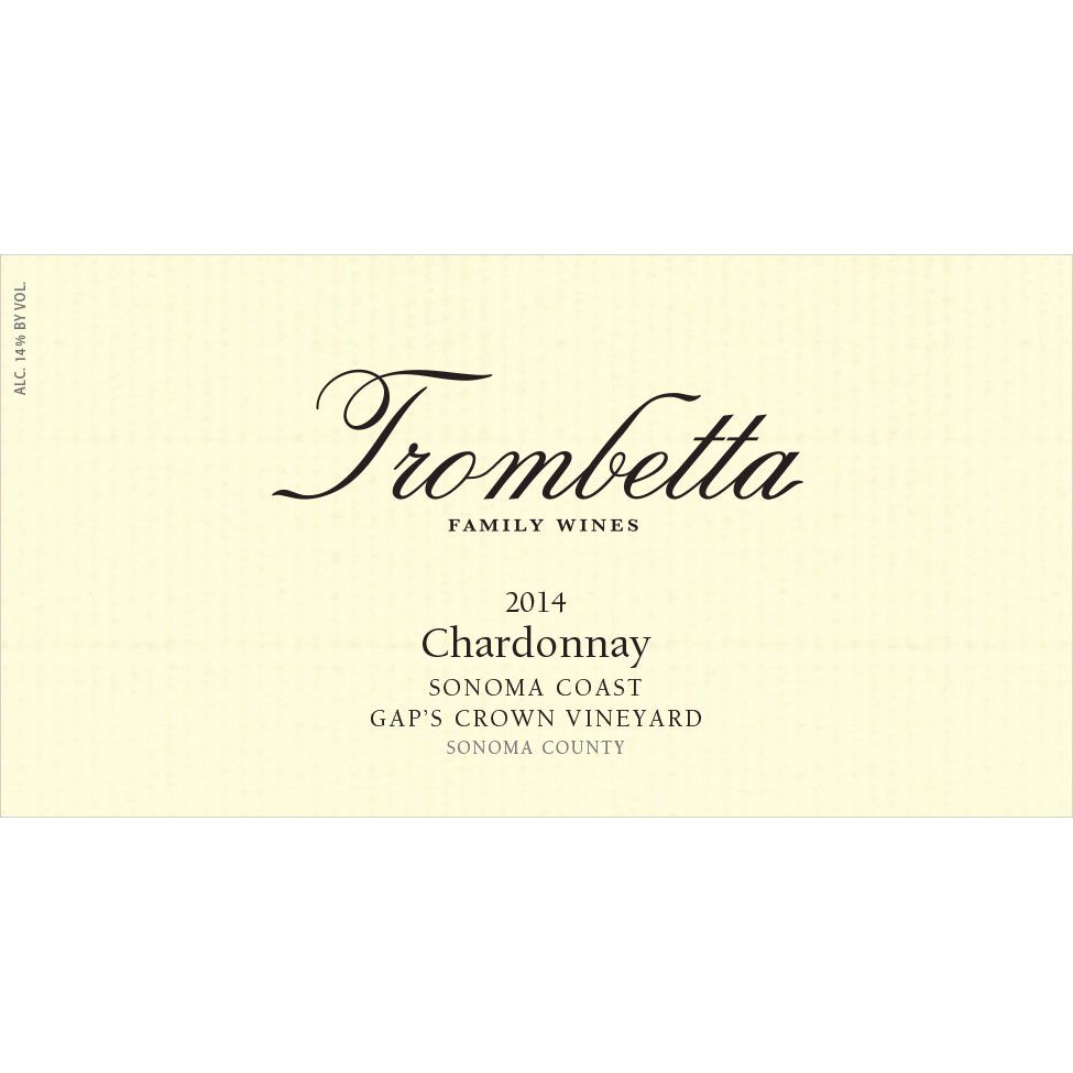 Trombetta Gap's Crown Vineyard Pinot Noir 2014 Front Label