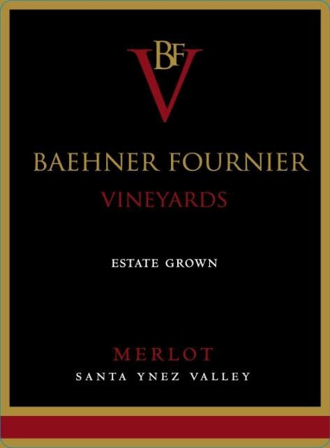 Baehner Fournier Vineyards Merlot Estate Grown 2013 Front Label