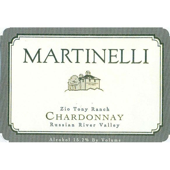 Martinelli Zio Tony Ranch Chardonnay 2008 Front Label