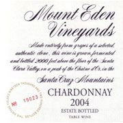 Mount Eden Vineyards Estate Chardonnay (torn labels) 2004 Front Label