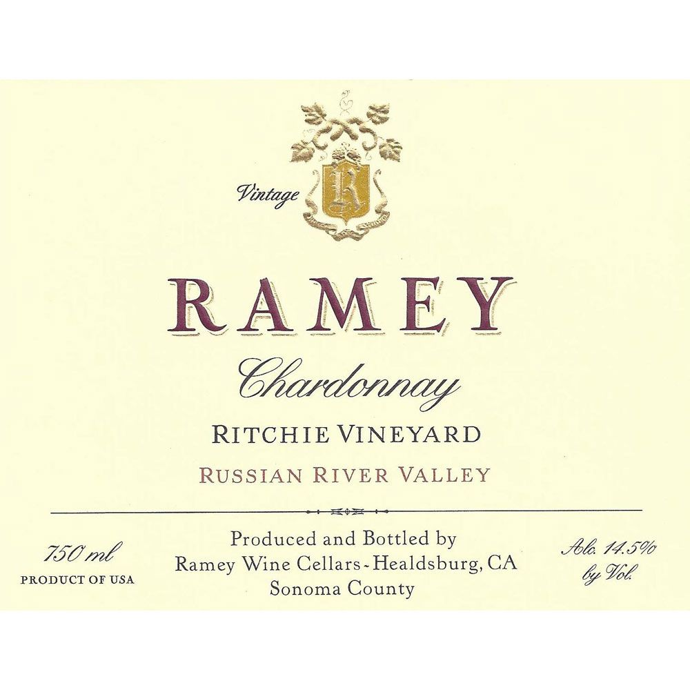 Ramey Ritchie Vineyard Chardonnay (torn labels) 2005 Front Label