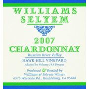 Williams Selyem Hawk Hill Vineyard Chardonnay 2007 Front Label