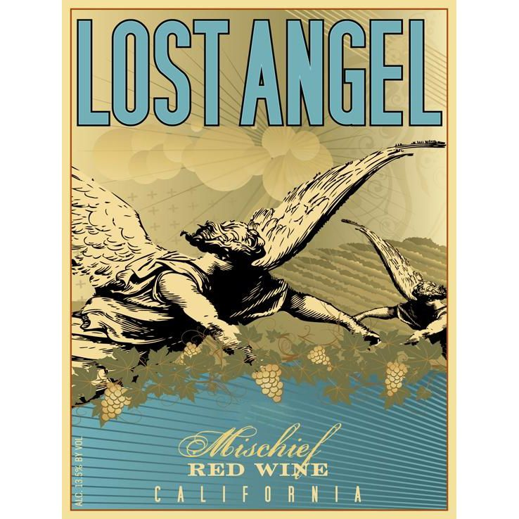 Lost Angel Mischief Red Blend 2016 Front Label