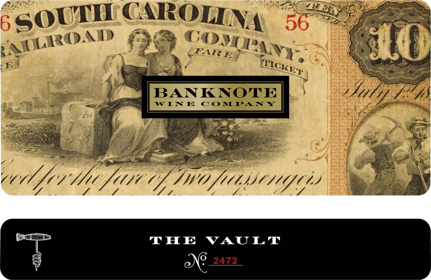 Banknote Wine Company The Vault Red Blend 2007 Front Label