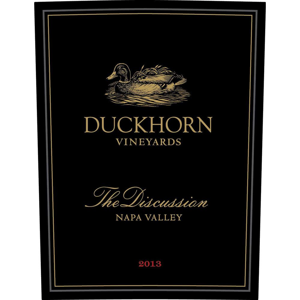 Duckhorn The Discussion 2013 Front Label