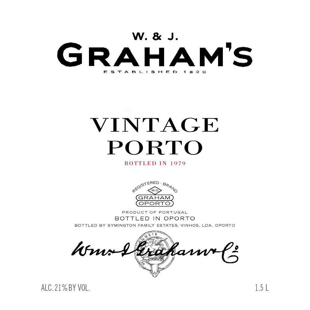Graham's Vintage Port 1980 Front Label