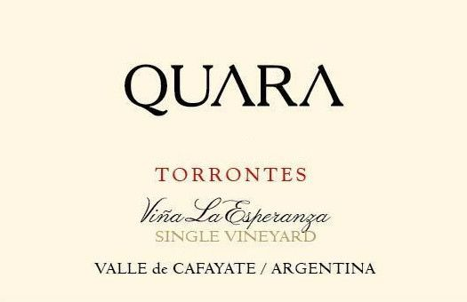 Finca Quara Vina La Esperanza Single Vineyard Torrontes 2012 Front Label