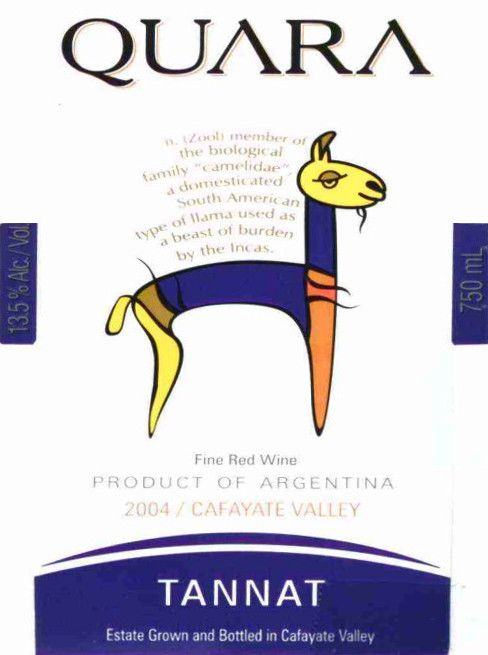 Finca Quara Tannat 2004 Front Label