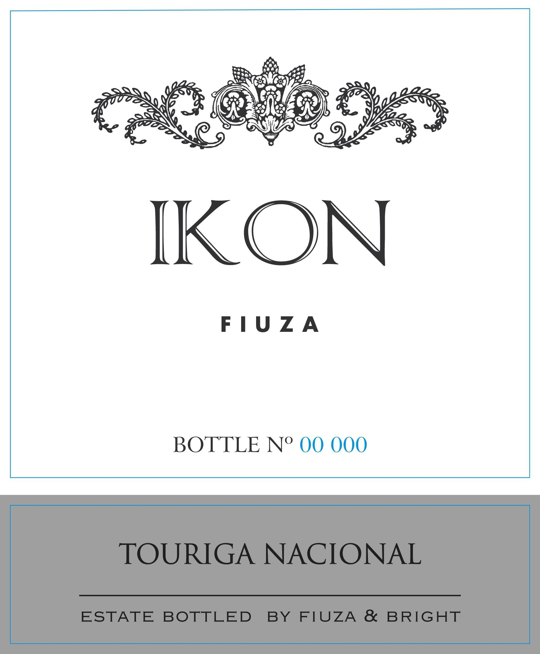 Fiuza & Bright Ikon Touriga Nacional 2012 Front Label