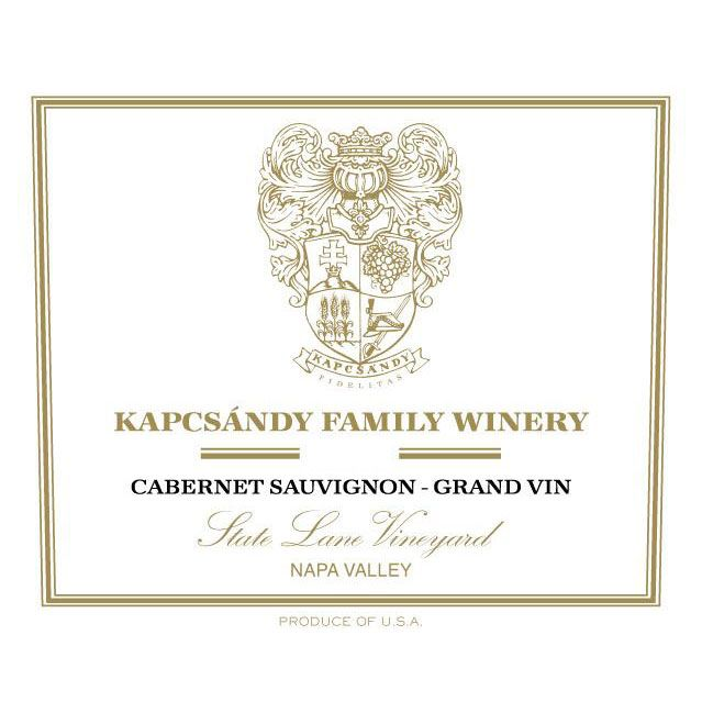 Kapcsandy Family Winery State Lane Cabernet Sauvignon Grand Vin 2007 Front Label
