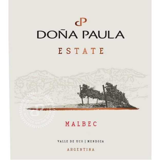 Dona Paula Estate Malbec 2016 Front Label
