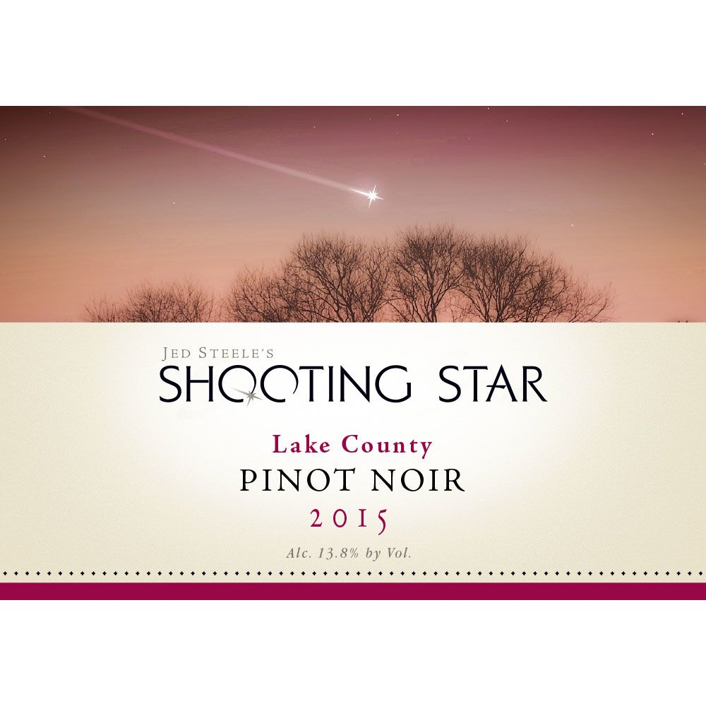 Steele Shooting Star Pinot Noir 2015 Front Label