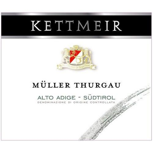 Kettmeir Muller Thurgau 2016 Front Label
