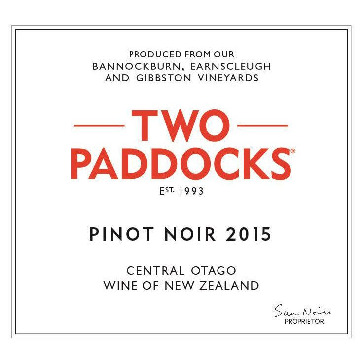 Two Paddocks Pinot Noir 2015 Front Label