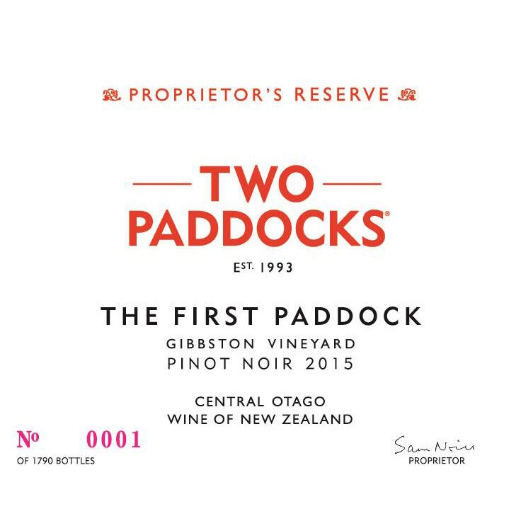 Two Paddocks The First Paddock Pinot Noir 2015 Front Label