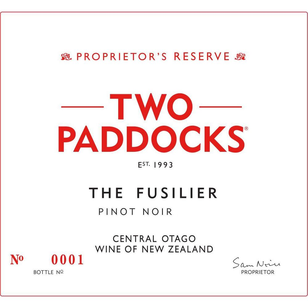 Two Paddocks Fusilier Pinot Noir 2015 Front Label