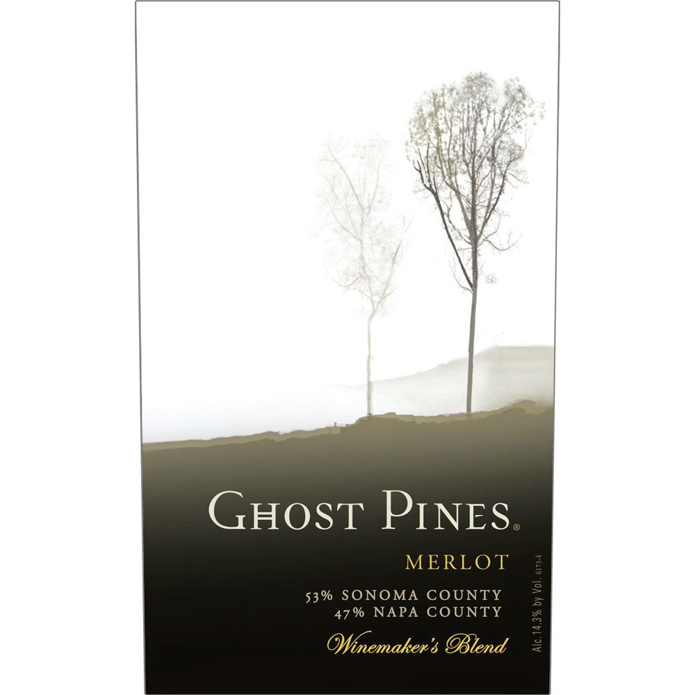 Ghost Pines Merlot 2015 Front Label