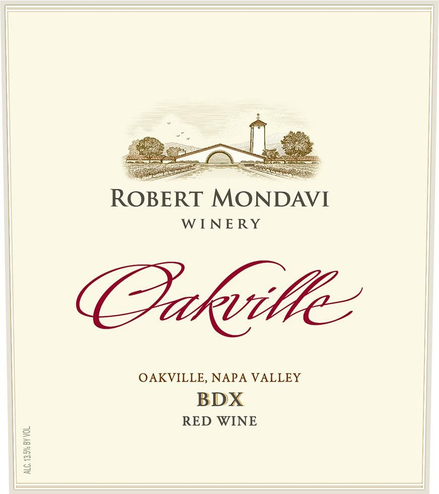 Robert Mondavi Oakville BDX Red Blend 2013 Front Label